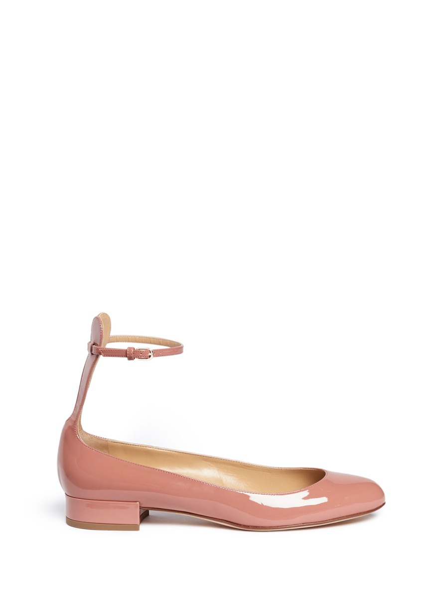 Ankle strap patent leather pumps by Francesco Russo