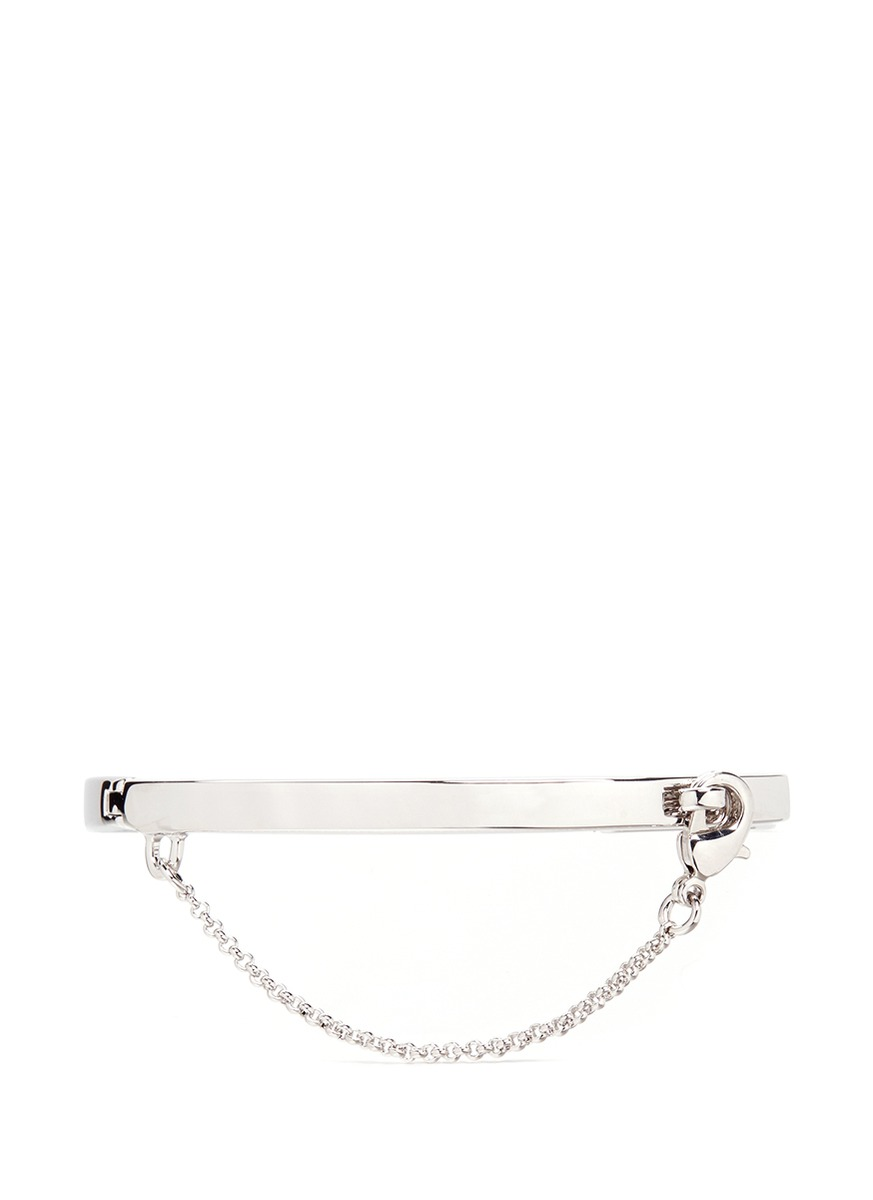 Extra Thin Safety Chain silver plated bracelet by Eddie Borgo