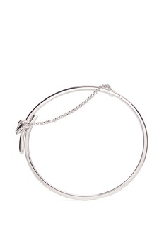 Eddie Borgo 'Extra Thin Safety Chain' silver plated bracelet