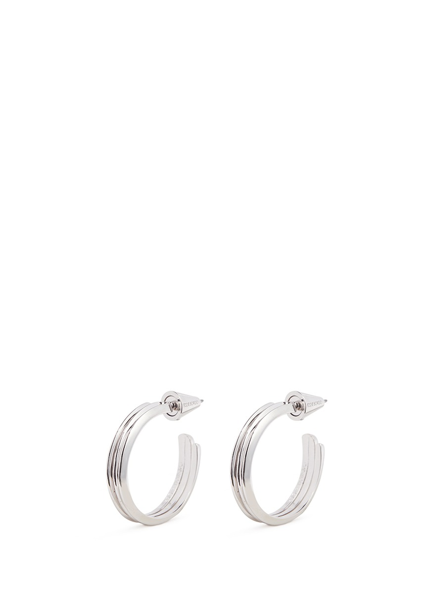 Trace ribbed hoop earrings by Eddie Borgo