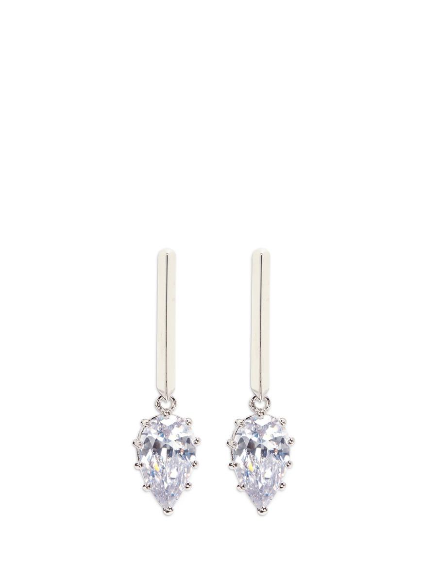 Glint cubic zirconia drop earrings by Eddie Borgo