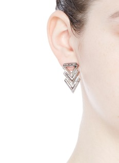 Eddie Borgo 'Twill Chevron' cubic zirconia drop earrings