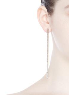 Eddie Borgo'Peaked Baguette Line' cubic zirconia hinged linear earrings