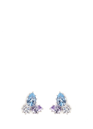 Main View - Click To Enlarge - Eddie Borgo - 'Estate Pop' glass crystal earrings