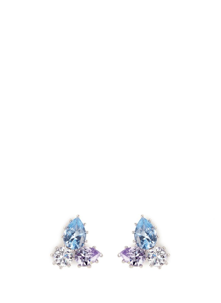 Estate Pop glass crystal earrings by Eddie Borgo