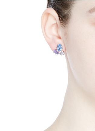 Figure View - Click To Enlarge - Eddie Borgo - 'Estate Pop' glass crystal earrings