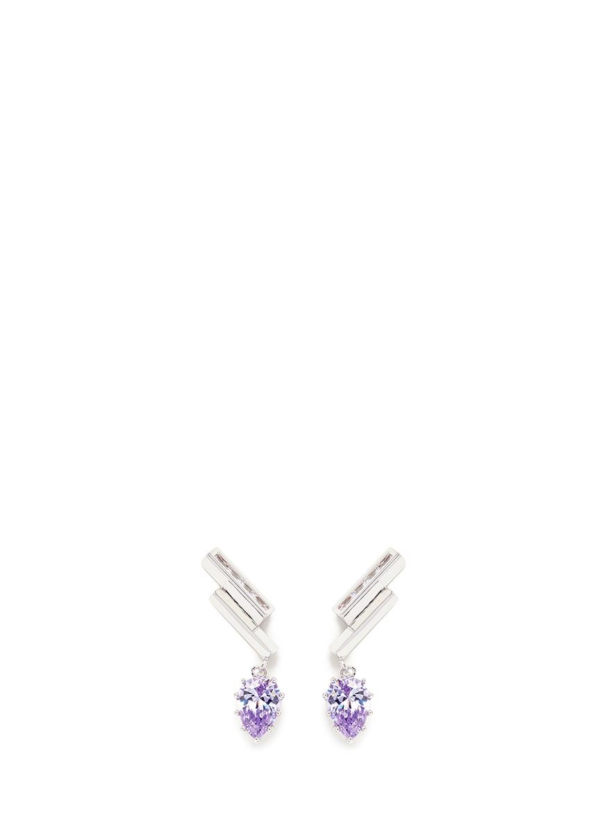 Estate Pop Ear Climbers glass crystal drop earrings by Eddie Borgo