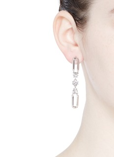 Eddie Borgo'Estate Pop' padlock hoop glass crystal drop earrings