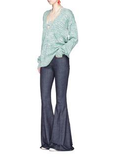 Rosie AssoulinHalterneck geometric cut cotton sweater