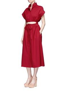 Rosie AssoulinCutout drawstring waist dress