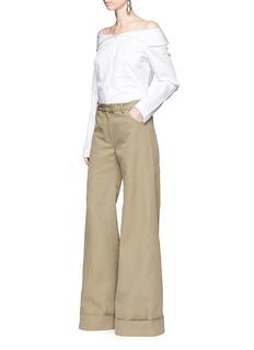 Rosie Assoulin'B-Boy' cotton twill flared pants