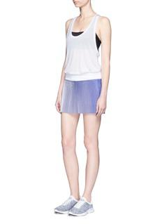 Monreal London'Joy' ombré plissé pleated drawstring skirt