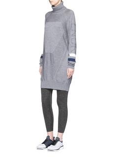 Lndr'Dux' geometric panel Merino wool sweater