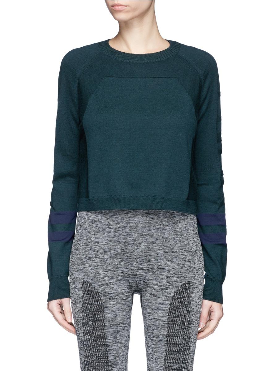 Ace Merino wool blend cropped sweater by Lndr