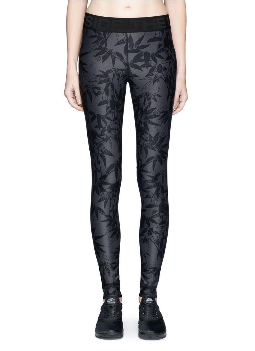 Bamboo Speechless print performance leggings by The Upside