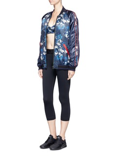 The Upside 'Zoe' cherry blossom print performance cropped top