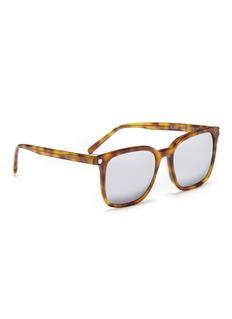 Saint LaurentSL93' tortoiseshell acetate unisex square sunglasses
