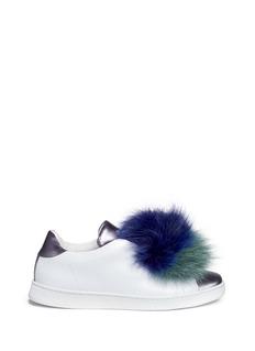 Joshua Sanders'Pon Pon' leather slip-on sneakers
