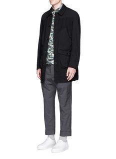 Comme Des Garçons HommeGarment dyed hopsack coat