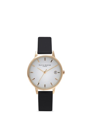 Main View - Click To Enlarge - Olivia Burton  - 'The Dandy' leather strap watch