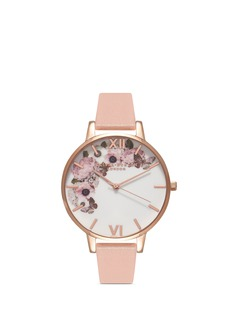 Olivia Burton  'Enchanted Garden' floral print Big Dial watch