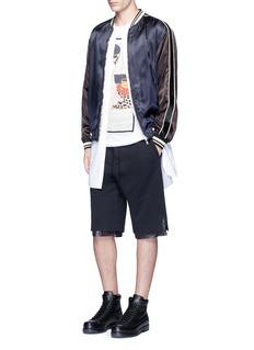 3.1 Phillip LimWindbreaker trim terry leisure shorts