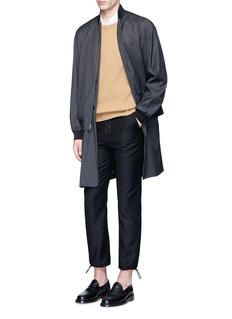 3.1 Phillip Lim'Trompe l'oeil' long blazer bomber coat