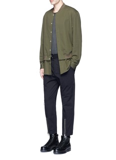 3.1 Phillip Lim Shirt layer twill bomber jacket