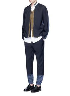 3.1 Phillip LimGrid cuff wool lounge pants
