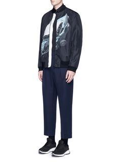 Christopher Kane'Car crash' print bomber jacket