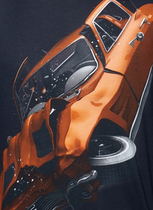 Detail View - Click To Enlarge - Christopher Kane - 'Car Crash' print cotton T-shirt