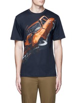 'Car Crash' print cotton T-shirt