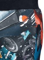 'Car Crash' print cotton sweatpants