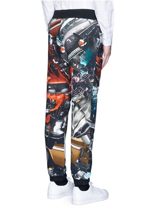 Back View - Click To Enlarge - Christopher Kane - 'Car Crash' print cotton sweatpants