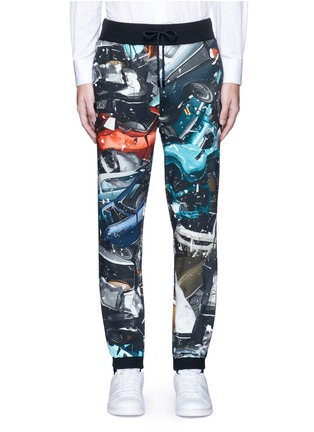 Main View - Click To Enlarge - Christopher Kane - 'Car Crash' print cotton sweatpants
