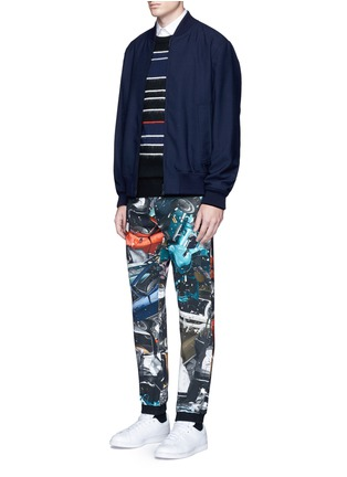 Figure View - Click To Enlarge - Christopher Kane - 'Car Crash' print cotton sweatpants