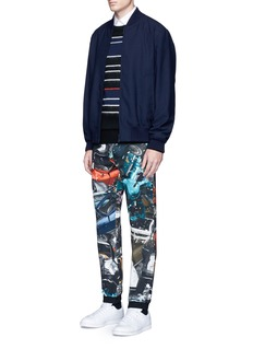 Christopher Kane 'Car Crash' print cotton sweatpants