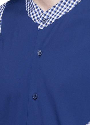 细节 - 点击放大 - CHRISTOPHER KANE - 拼接设计混棉衬衫