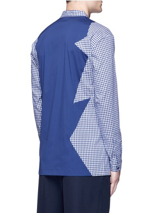 Back View - Click To Enlarge - Christopher Kane - Patchwork cotton shirt