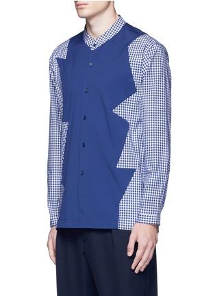 正面 -点击放大 - CHRISTOPHER KANE - 拼接设计混棉衬衫