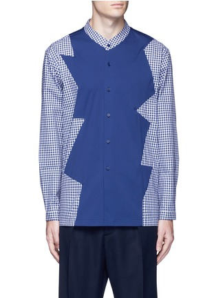 Main View - Click To Enlarge - Christopher Kane - Patchwork cotton shirt