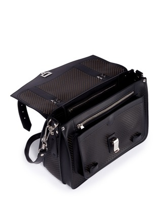 Detail View - Click To Enlarge - Proenza Schouler - 'PS1' medium perforated leather satchel