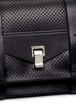 'PS1' medium perforated leather satchel