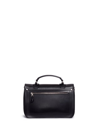 Back View - Click To Enlarge - Proenza Schouler - 'PS1' medium perforated leather satchel