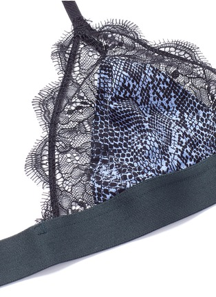 Detail View - Click To Enlarge - Love Stories - 'Love Lace' scarab print eyelash lace bralette