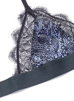 'Love Lace' scarab print eyelash lace bralette