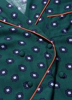 'Donald T' scarab print pyjama shirt