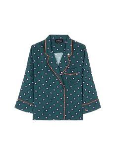 Love Stories'Donald T' scarab print pyjama shirt