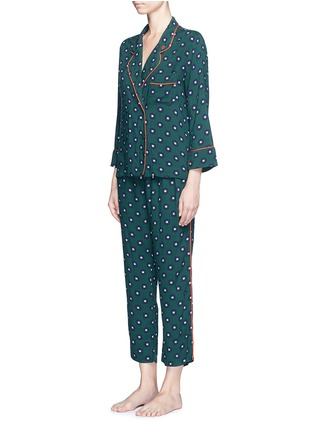 Figure View - Click To Enlarge - LOVESTORIES - 'Donald T' scarab print pyjama shirt