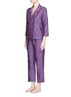 Love Stories 'Donald T' diamond jacquard pyjama shirt